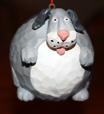 """Midwest Chubby Fat Dog Ornaments - 3"""" Tall X 3"""" Wide - Pink nose,tongue"""