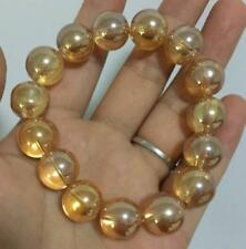 popular Yellow crystal 14 mm women allergy bracelet 7.5 inches