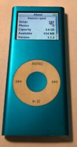 READ Apple iPod nano 2nd Generation Blue (4 GB) A1199 Good Used 589 Songs Pixel