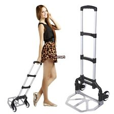 Portable Folding Hand Truck Dolly Luggage Carts, 150 lbs Capacity ES88