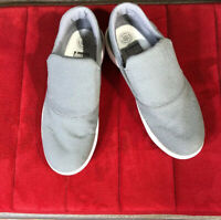 FitFlop Superskate Gray  Canvas Loafers Shoes Womens Size 10 NICE !