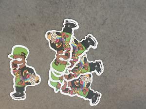 Bart Simpson Rasta Style sticker pack x 5