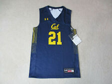 NEW Under Armour Cal Golden Bears Basketball Jersey Adult Large Blue Dri Fit Men
