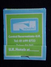 NOVOTEL UK HOTELS 01 4990733 MATCHBOOK