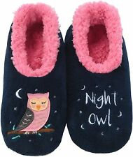 Snoozies Womens Slippers - Womens House Slipper Socks - Night Owl Pairables