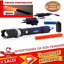 TORCIA TATTICA MILITARE RICARICABILE CREE LED CON ZOOM OFFERTA SOTTOCOSTO CONO