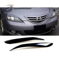 * Custom Painted Eyebrows Headlight Cover Eyelids For Mazda 3 Axela 5D 04-09