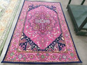 PINK / NAVY 5' X 8' Back Stain Rug, Reduced Price 1172614370 BLG541C-5