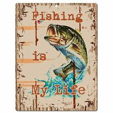 PP0536 Fishing Plate Chic Sign Bar Store Shop Cafe Restaurant Kitchen Decor Sign
