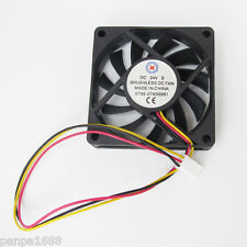 10pcs Brushless DC Cooling Fan 70x70x15mm 70mm 11 blades 24V 3pin Connector UK