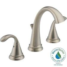 "Delta 35706LF-SS-ECO Zella 8"" Widespread 2 Handle Bathroom Faucet Brushed Nickel"