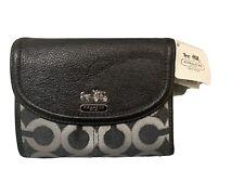 NWT Coach 46660 Madison Op Art Lurex Medium Wallet NWT