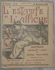 L'Estampe et l'affiche - 15 Nov. 1899 Clément - Janin André Mellerio  Bouyer