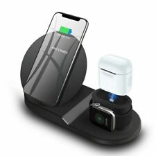3in1 Wireless Fast Charging Dock Stand For Apple Watch iPhone 11 SE2 Samsung S21