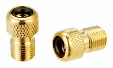 Slime  Metal  Presta to Schrader Valve Adapter  Gold
