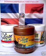 3 Units Silicon Mix + Bambu + Argan Oil Hair Treatment 16 oz Combo frete gratis