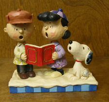 "Jim Shore PEANUTS #4045883 SNOOPY, CHARLIE BROWN, LUCY CAROLING ""Peace on Earth"""