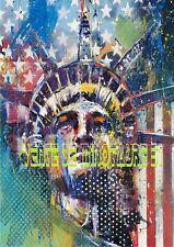la statue de la Liberté - New Art  - USA - affiche plastifiée