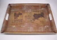 "Phoenix Creative Vintage Western Rodeo Cowboy Melamine Plastic 19"" Serving Tray"