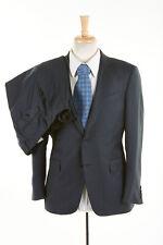 JOHN VARVATOS Suit 40 S Steel Blue Subtle Stripe 150s Italian Wool ITALY Lardini