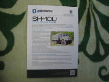 Kraz SH-10U military truck 2018 Ukraine brochure prospekt leaflet