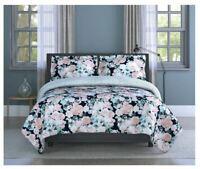 Inspired Surroundings Queen/Full Comforter Set English Garden 3p Mint Green Pink