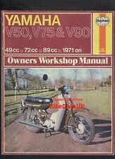 Yamaha V50 V75 V90 V50MA (1971-1977) Haynes Manual de taller de trabajo V 50 75 90 P ma