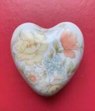 Vintage Signed TAKAHASHI SAN FRANCISCO HEART TRINKET JEWELRY BOX Sachet Flowers