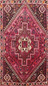 Vintage Tribal Abadeh Hand-Knotted Wool Area Rug Oriental Home Decor Carpet 4x5