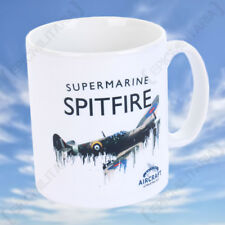 Spitfire Liquid Metal Mug - Vintage WW2 Military RAF Royal Air Force Cup NEW