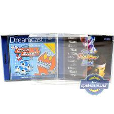 10 x Sega Dreamcast Game Box Protectors STRONGEST 0.5mm PET Plastic Display Case
