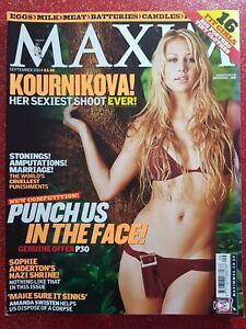 MAXIM MAGAZINE FOR MEN 2004 - TENNIS PRINCESS 'ANNA KOURNIKOVA'