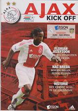 Programma / Programme Ajax Amsterdam v NAC Breda 10-10-2010
