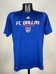 Youth Adidas Climalite FC Dallas Training Polyester Short-Sleeve MLS Soccer Tee