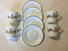 """Corelle """"Holiday Magic"""" Cups Christmas One Set of 4 Cups and Saucers"""