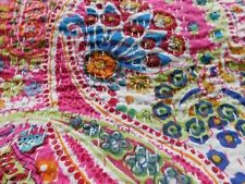 Indian Handmade Quilt Vintage Kantha Bedspread Throw Cotton Blanket Gudri !Twin