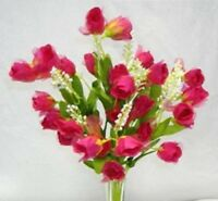 36 FUCHSIA Silk Mini Rose Buds Wedding Party Favor Centerpieces Flowers