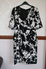 Adrianna Papell Black White Smart Dress Work Office Cocktail  BNWT 8 10  £140