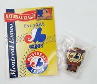 1994 Montreal Expos National League Baseball Lapel Hat Pin Pinback & Info Card
