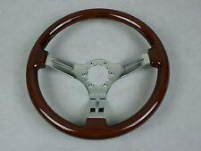 1968-1975 1977-1982 C3 Corvette Steering Wheel Mahogany Rim - 3 Chrome Spokes
