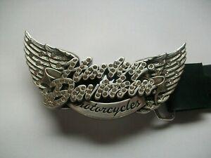HARLEY DAVIDSON WINGED RHINESTO  BELT BUCKLE. 2011 Warr's Harley-Davidson £48.56