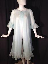 Vintage GOSSARD ARTEMIS Double Chiffon Robe Peignoir Lace Inserts Sz M