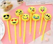 Pretty Cartoon Ball Point Pen Ballpoint Emoji Face Stationery School Office Pens