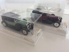 SOLIDO NO.4145 & 4062 HISPANO PHAETON 1926 & SUIZA 1929 1:43 DIECAST MODEL CARS