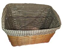 Longaberger Proudly American Medium Gathering Basket w/ Protector and Booklet