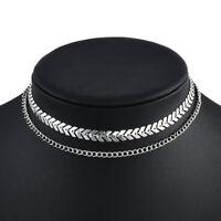 Fashion Silver Gold Choker Chunky Chain Bib Necklace Women Jewelry Pendant New