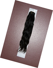 20 inch Indian 100% TRUE VIRGIN Remy Human Hair Extensions #1B Body Wave Weave