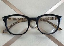 NEW Betsey Black with leopard arms Wayfarer Reading Glasses 1.50