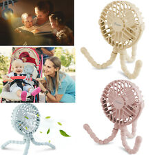3 Speeds Portable USB Rechargeable Mini Cooling Fan Clip On Desk Baby Stroller