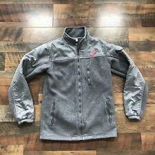 NHL Detroit Red Wings Zip Up Fleece Jacket Coat  Gray Adult Men's Size Small EUC
